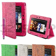 """Leather Case Cover Stand for Amazon Kindle Fire HD 7"""" + Screen Protector Stylus"""