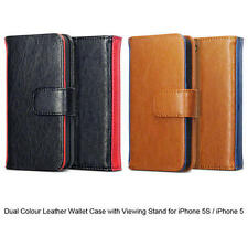 Terrapin Dual Colour PU Leather Wallet Case for iPhone 5S / 5