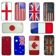 Flag Battery Cover Replacement Rear Panel Back Glass Housing For iPhone 4S