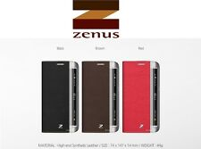Zenus Premium Synthetic Leather Pocket Case Cover For Samsung Galaxy S6 Edge UK