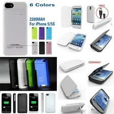 1900 2200mAH Portable Charger Case External Battery Pack F iPhone 4 4S 5 5S S3 4