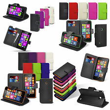 Nokia Lumia Various Mobile Phone Models Book Wallet Leather Flip Case Cover