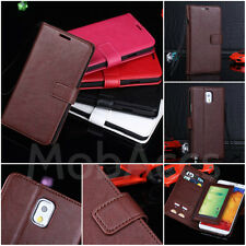 PREMIUM GENUINE LEATHER WALLET CASE COVER FOR SAMSUNG GALAXY NOTE 3 N9000 N9005