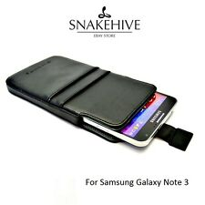 SNAKEHIVE® Genuine Real Leather Pouch Case Cover for Samsung Galaxy Note 3