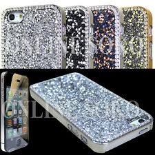 NEW LUXURY SPARKLE CRYSTAL DIAMOND BLING CASE FOR APPLE PHONES FREE SCREEN GUARD