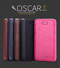 KLD OSCAR II 2 THIN FLIP LEATHER CASE COVER FOR IPHONE 4 4S
