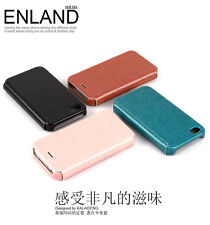 KLD ENLAND THIN FLIP LEATHER CASE COVER FOR IPHONE 5 5S
