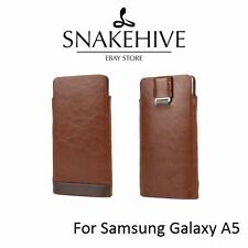 SNAKEHIVE® Genuine Real Leather Slimline Pouch Case Cover for Samsung Galaxy A5
