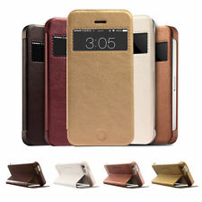 Window View Slim Wallet Stand Flip Leather Case Cover for Apple iPhone 5 5s 5c