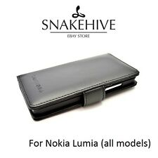 SNAKEHIVE® Genuine Leather Wallet Flip Case Cover for Nokia Lumia - All Models