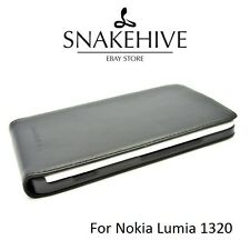 SNAKEHIVE® Genuine Real Leather Flip Case Cover for Nokia Lumia 1320