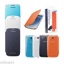 Genuine Samsung Galaxy S3 I9300 Flip Case Battery Back Hard Shell Cover New UK