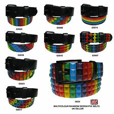 Pyramid Studded Mens and Womens Belt With Removable Buckle Fitting