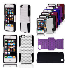 COMBO HYBRID BUMPER SILICONE CASE COVER FOR APPLE IPHONE 5 + SCREEN PROTECTOR