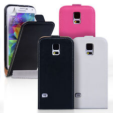 Caseflex Accessories Samsung Galaxy S5 Plus Real Genuine Leather Flip Case Cover
