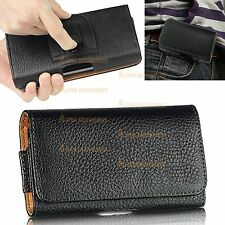 Belt Clip Loop Hip Holster PU Leather Flip Case Cover Pouch For ZTE Phone Models