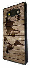 Vintage Wood Design Look Vintage World Map SAMSUNG Galaxy A3 A5 A7 Case Cover