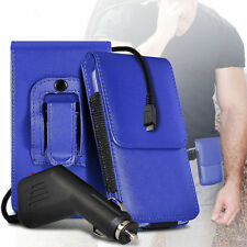 PU Leather Pouch Belt Holster Case & Car Charger For Samsung Galaxy S2 i9100