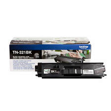 GENUINE BROTHER TN-321BK / TN321BK BLACK LASER TONER PRINTER CARTRIDGE