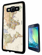 World Map The World Look 178 SAMSUNG Galaxy A3 A5 Rubber Gel Case Cover