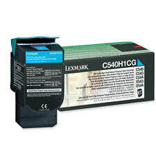 GENUINE LEXMARK C540H1CG CYAN HIGH CAPACITY RETURN PROGRAM LASER TONER CARTRIDGE