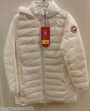 Ladies Canada Goose Thompson Duck Down Jacket White Coat Insulated