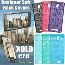For Xolo Era Circular Design Soft Silicon Back Cover Case Pouch
