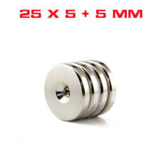Strong Round Cylinder Magnet 25x5mm with 5mm Hole Rare Earth Neodymium #CY739