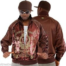 Akademiks Bühne Super Star MJ Paillette Bling Hip Hop Trainingsjacke Top #