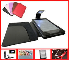 Stylish Leather Case Cover with LED Light for Amazon Kindle 4th/5th ge