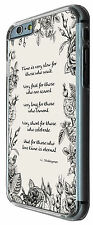 395 Shakespeare Quote Time slow Floral iphone 6 /6 Plus iphone 4 5 5C