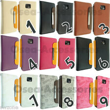 For Samsung i9100 Galaxy S2 Leather Case Cover Flip Pouch Book Back Ph