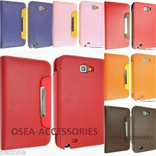 FOR SAMSUNG GALAXY NOTE 1 I9220 N7000 LEATHER CASE COVER WALLET POUCH