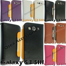 FOR SAMSUNG GALAXY S3 I9300 LEATHER CASE COVER WALLET FLIP POUCH BACK