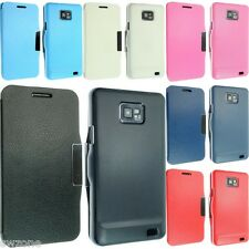 FOR SAMSUNG GALAXY S2 SII I9100 LEATHER CASE COVER WALLET POUCH BACK F