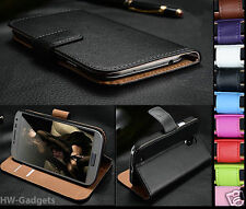 Apple iPhone 5C Genuine Real Leather Flip Wallet Slim Case Cover + Fre