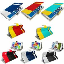 NEW DUAL COLOR WALLET FLIP CASE COVER FOR SAMSUNG GALAXY NOTE 3/S5/S4