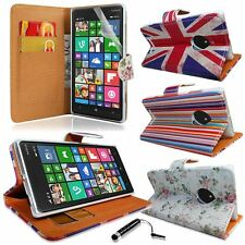 PU Leather Wallet Flip Case Cover With Screen Guard Stylus For Nokia L