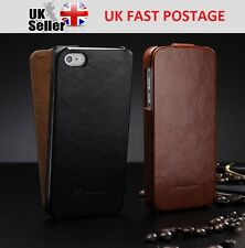 QUALITY LUXURY ULTRA SLIM HARD LEATHER FLIP CASE FOR IPHONE 5 / 5S + F