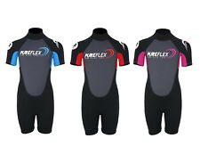 Two Bare Feet PUREFLEX NERO Kids Wetsuit childrens short shorty colour choice