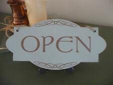 Open / Closed Shop Sign Wooden Shabby Double Sided Door Hanging Chic Celtic