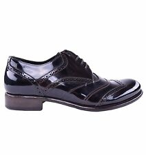 DOLCE & GABBANA Lackleder Schuhe Braun Patent Leather Shoes Brown 03889