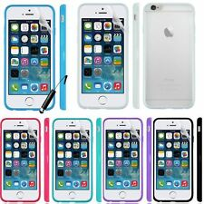 CLEAR Back Silicone Bumper Case Cover For iPhone 6 4.7 Air + SP & Styl