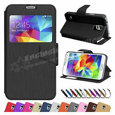 New Flip Wallet Leather Case Cover Stand For SAMSUNG Galaxy S5 Screen