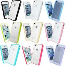 For iPhone Bumper Gel Frosted Back Shell Case Cover Free Screen Protec