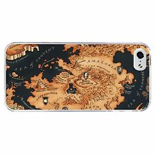World Map Phone Case Hard Cover (Fits Iphone 4 4s 5c 5 5s 6 6+) Game o