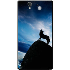 Howling Wolf At Full Moon Hard Case For Sony Xperia Z (C6603, C6602)