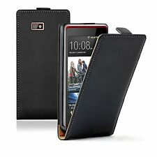 ULTRA SLIM Leather Flip Case Cover Pouch for Mobile Phone HTC Desire 6