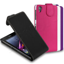 All Colours PU Leather Flip Wallet Case Cover Sleeve Fits Sony Xperia
