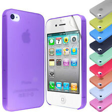 NEW FROSTED ULTRA THIN TRANSPARENT CASE COVER FOR iPhone 4G 4S+SCREEN